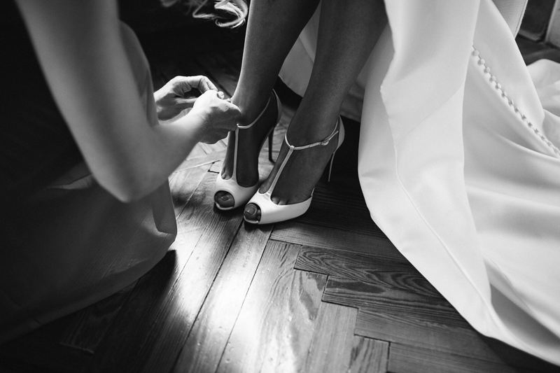 Louboutin Wedding Shoes - Peach & Jo Photography