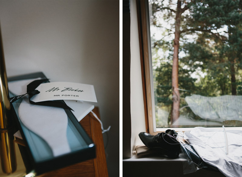 Alternative wedding photography, groom preparation