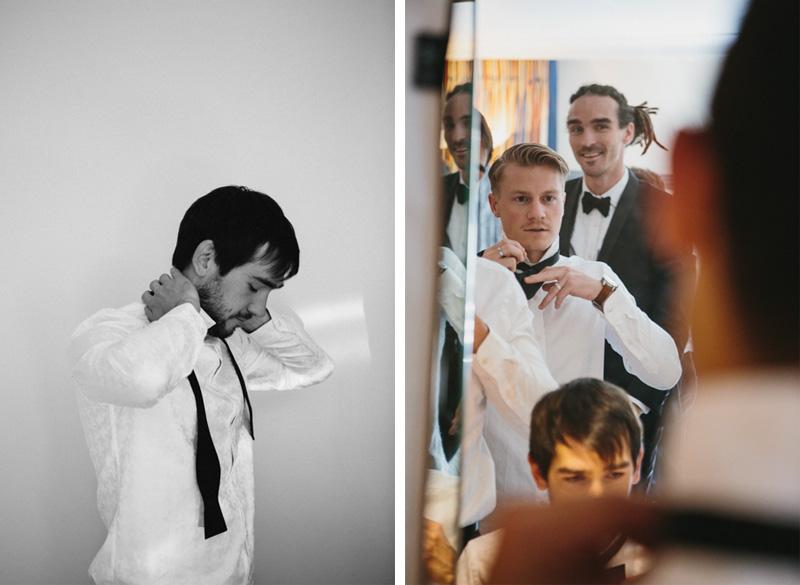 Creative wedding photography, groomsmen