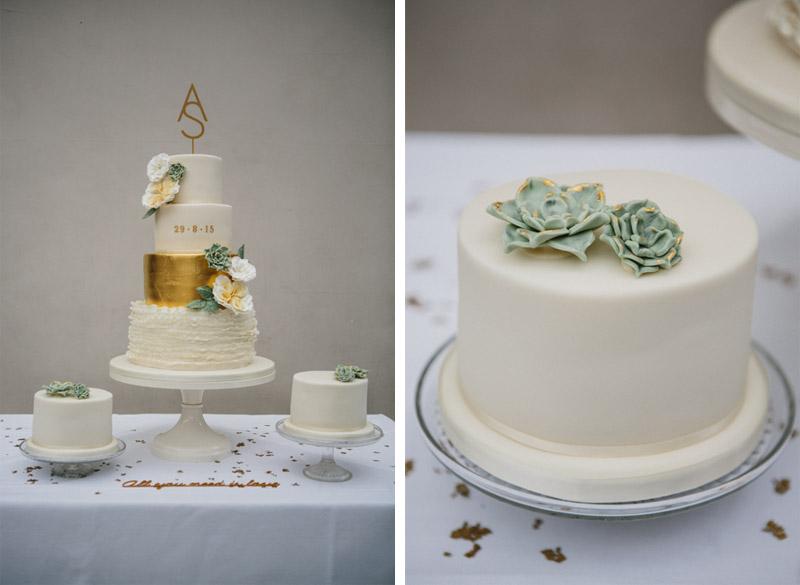 Stylish wedding photography, reception, wedding cake