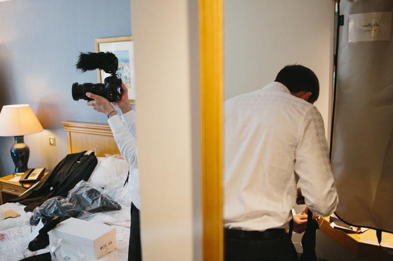 Fine art wedding photography, groom preparation, groomsmen