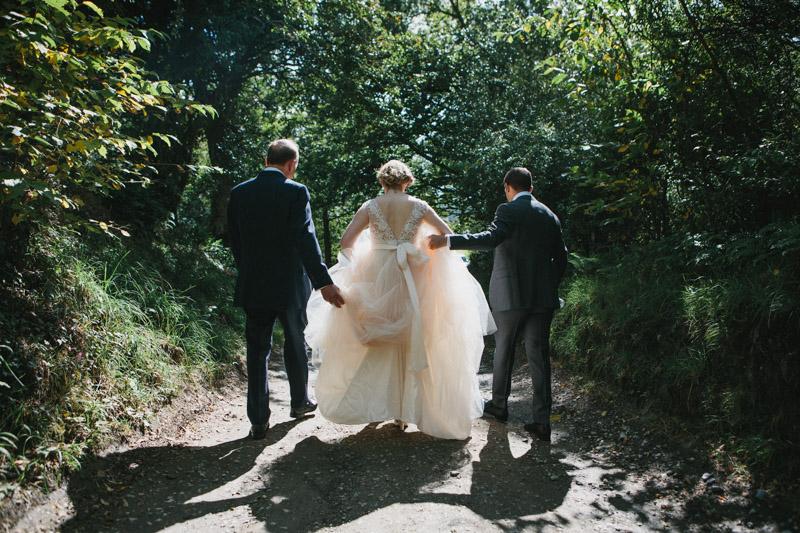Bride photo by fine art wedding photographer Peach & Jo taken at Fforest, Pembrokeshire, Wales, UK.
