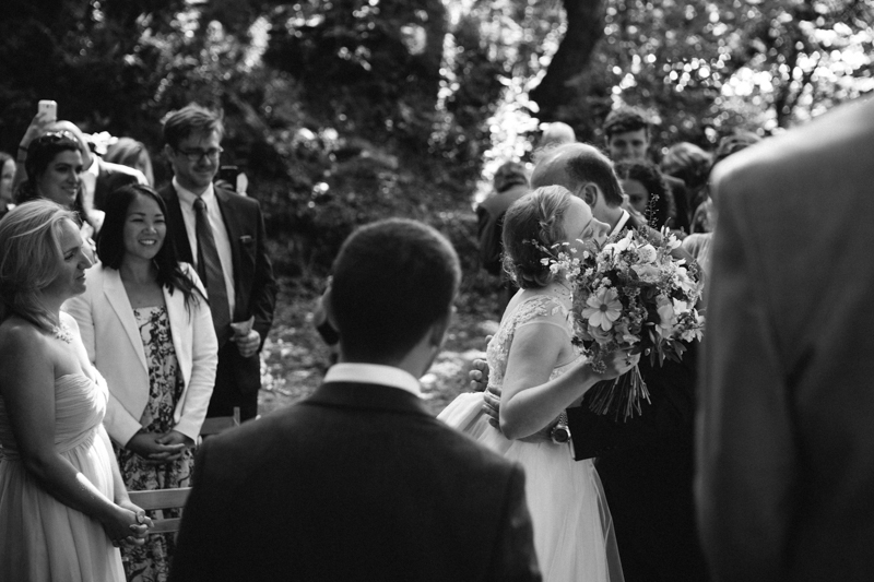 Outdoor wedding photo by south wales wedding photographer Peach & Jo taken at Fforest, Pembrokeshire, Wales, UK.