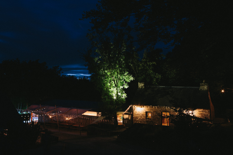 Evening photo by creative wedding photographer Peach & Jo taken at Fforest, Pembrokeshire, Wales, UK.