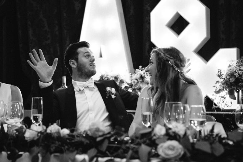 Fine art wedding photographer, reception speeches