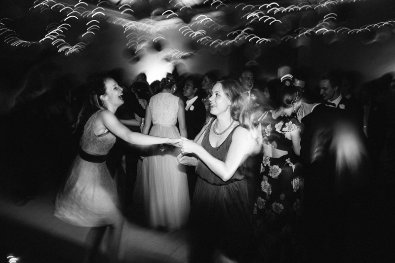 Stylish wedding photography, reception, guests dancing