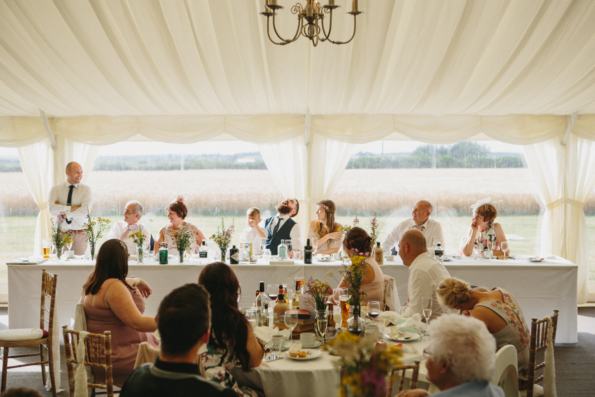 country wedding head table