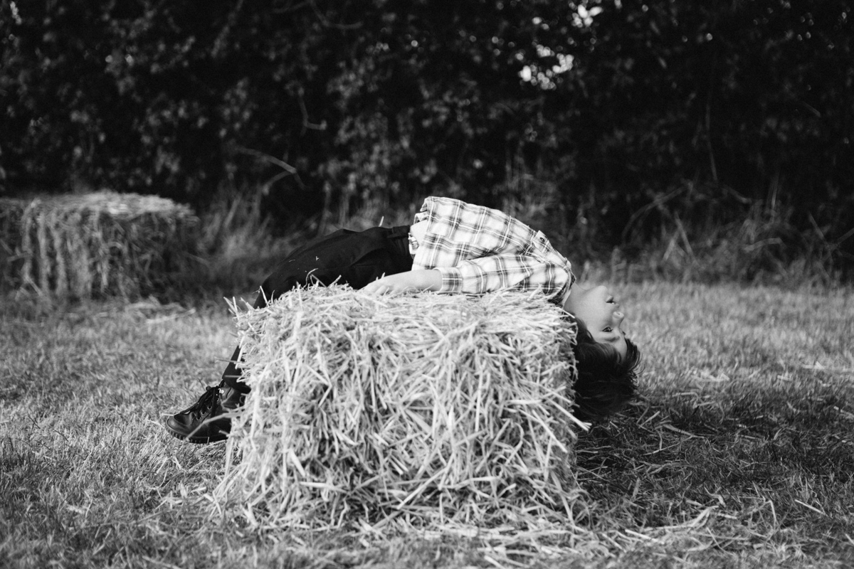country wedding hay bales